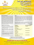 Workshop on Mainstreaming of Children with special needs: Identification  & integration in inclusive settings